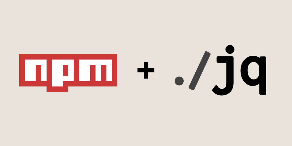 Using jq cli together with npm
